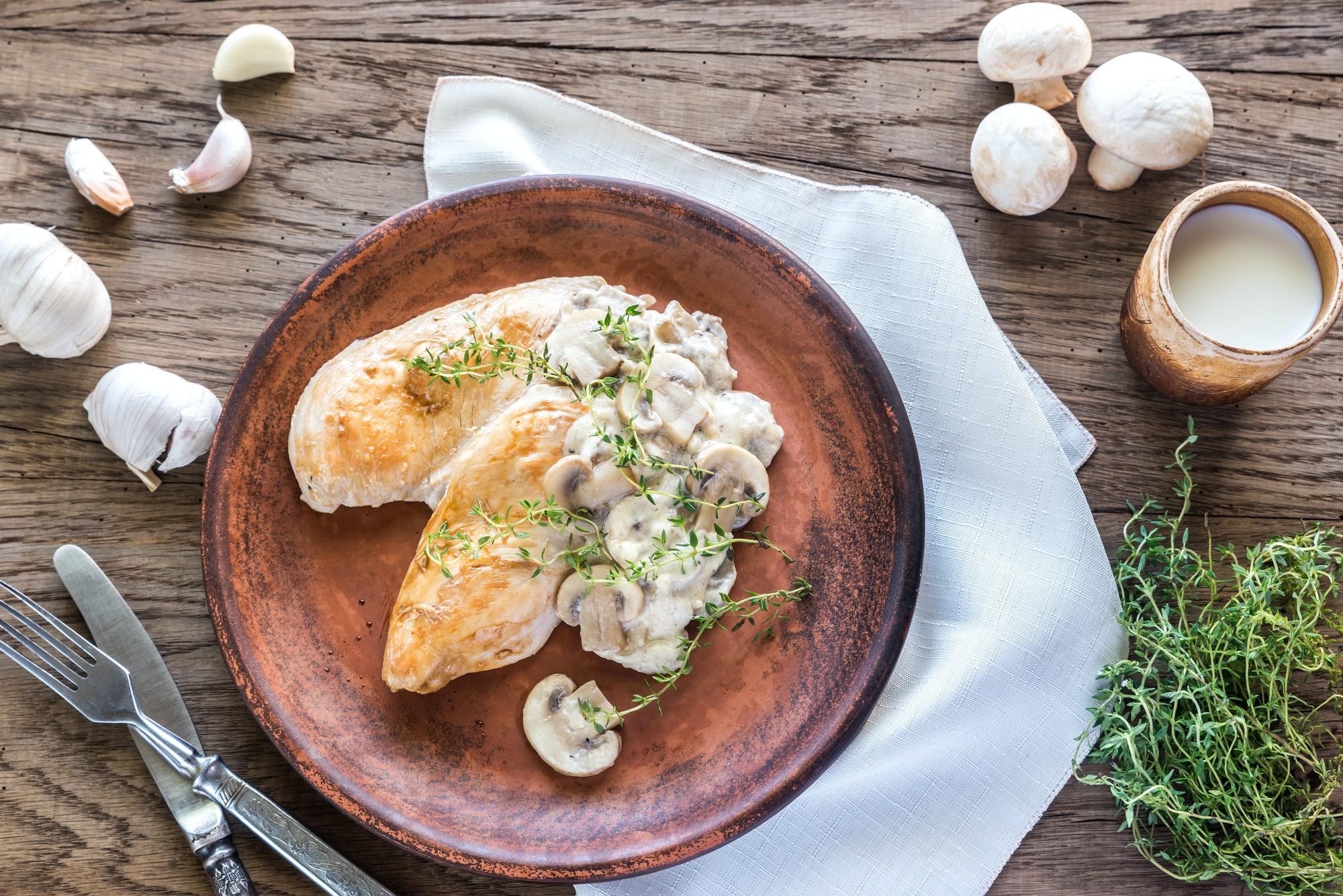 Creamy Garlic Mushroom Chicken